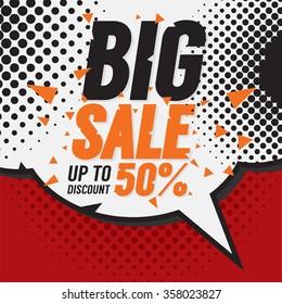 Big Sale 50 Percent Vector Illustration