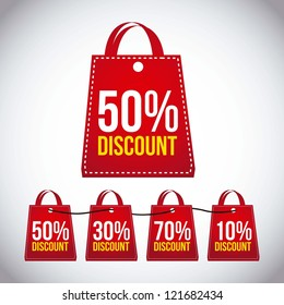 big sale bags over gray background. vector