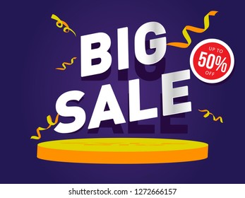 Big Sale Banner, discount, shopping