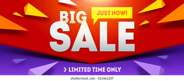 Big sale banner. Sale and discounts. Vector illustration