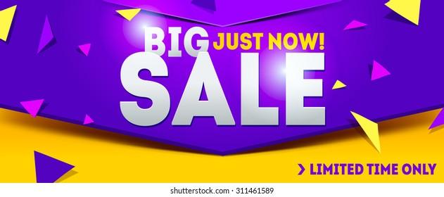 Big sale banner. Sale and discounts. Vector illustration