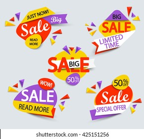 Big sale banner. Sale and discounts. Vector illustration.