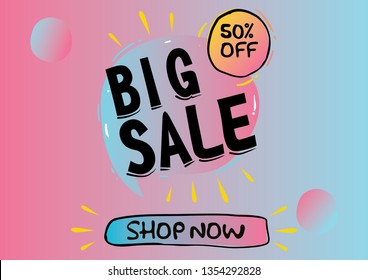Big Sale Banner Gradient Colors