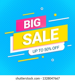 big sale banner modern template