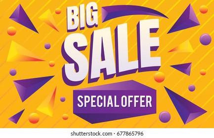 Big Sale Banner Poster Vector