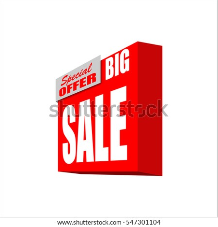 Big Sale Banner Red Discount Poster Stock Vector Royalty Free