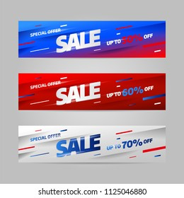 Big Sale banner template design, special offer. Vector illustration.