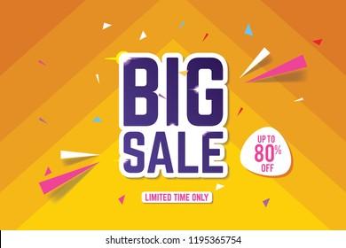 Big Sale Banner Template. Sale Banner Design. Abstract Sale Banner.