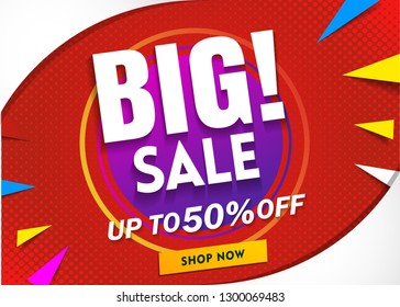 big sale banner template.Poster promotion special offer.