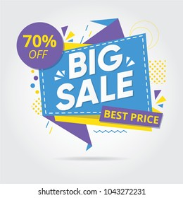 Big sale, Sale Banners, Tags, Labels And Stickers. Vector Illustration