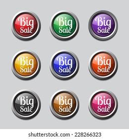 Big Sale Colorful Vector Icon Design