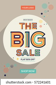 Big sale concept in modern typography. Vector Illustration with creative abstract design.