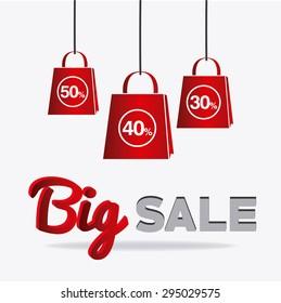 Big sale design, vector illustration eps 10.