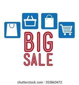 big sale design, vector illustration eps10 graphic