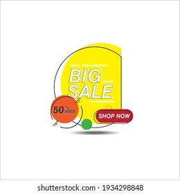 big sale design vector template illustration