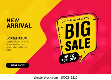 Big sale discount banner template promotion design for business