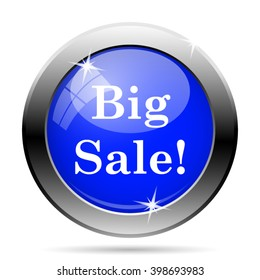 Big sale icon. Internet button on white background. EPS10 vector