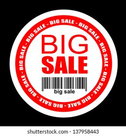 Big sale, icon vector
