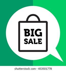 Big sale inscription in shopping bag