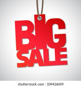 Big sale isolated tag
