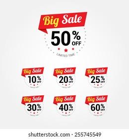 Big Sale % Labels