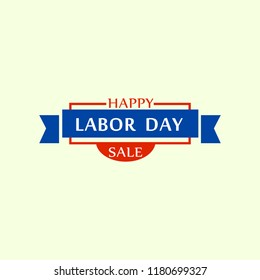 Big sale labor day logo. Flat illustration of big sale labor day vector logo for web design