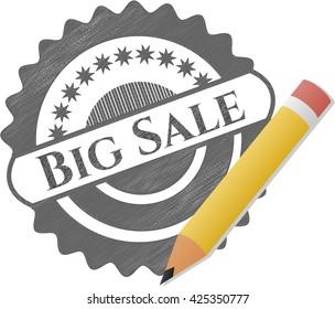 Big Sale pencil emblem