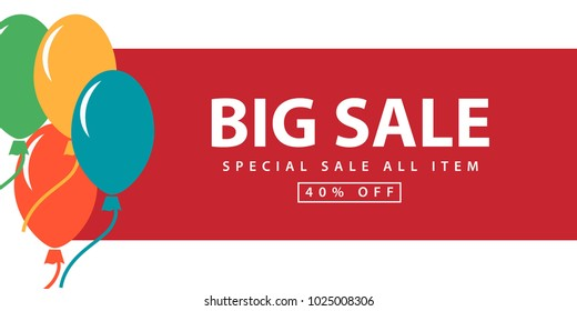 Big Sale Special Sale All Item Vector Template Design