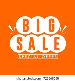 Big Sale Special Offer Logo Vector Template Design