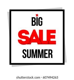 Big Sale. Special offer. Vector illustration.