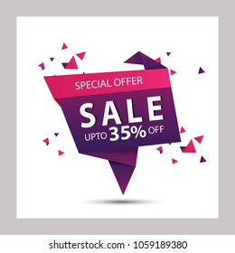 Big Sale, this weekend special offer banner, Discount flyer. Vector illustration.
