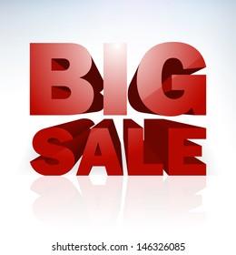 Big sale word template. EPS 10