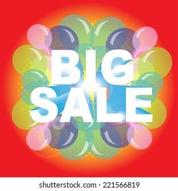 BIG SALE! wording in pop art style, vector format