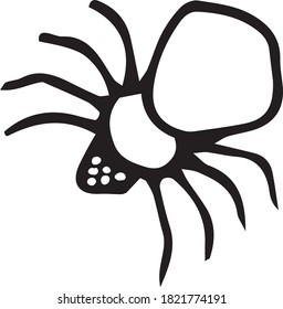 big scary spider vector. Halloween vector. insects vector