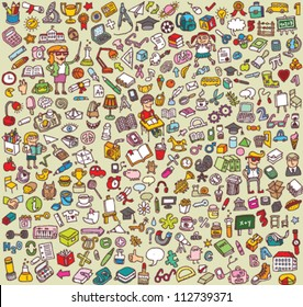 Big School Icons Collection: objects, icons, people ...