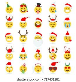 Christmas Emojis.Christmas Emojis Stock Vectors Images Vector Art