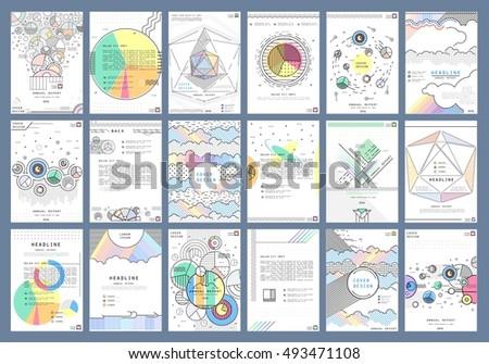 big set a 4 format creative presentation stock vector royalty free