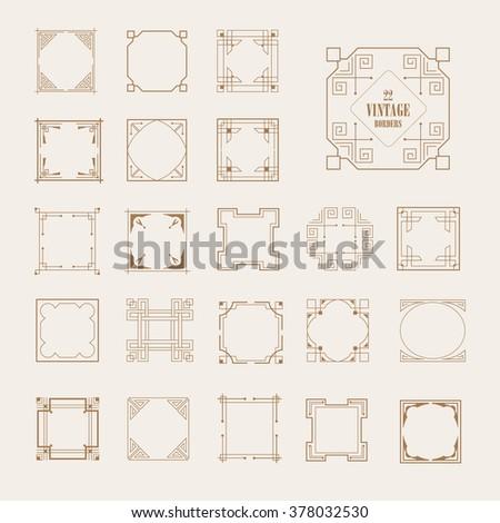Big Set Art Deco Western Frame Stock Vector (Royalty Free) 378032530 ...