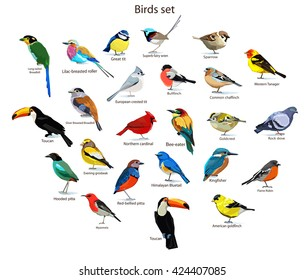 big set birds. birds flying, animals, bird silhouette, bird vector.Abstract art bird, Logo birds icon set vector illustration, set birds vector.