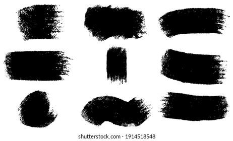 Big set of Black grunge stroke brush , banner, label, for your design, vector.