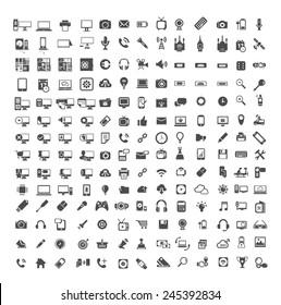 Big set of Coputer ,Coputer accessories, Office , Media icons