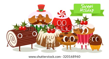big set of cute christmas cookies isolated on white merry christmas illustration cartoon christmas