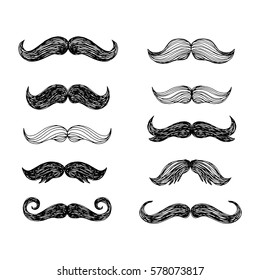 cartoon mustache images stock photos vectors shutterstock rh shutterstock com cartoon moustache png man with mustaches cartoon