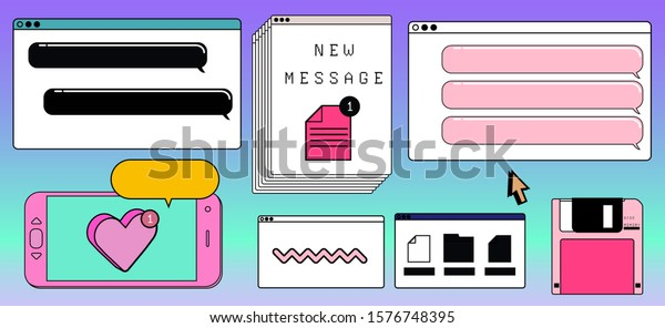 big set icons vector elements vaporwave stock vector royalty free 1576748395 https www shutterstock com image vector big set icons vector elements vaporwave 1576748395