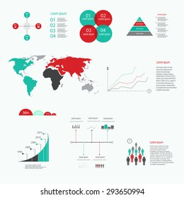 Big set of infographics elements.