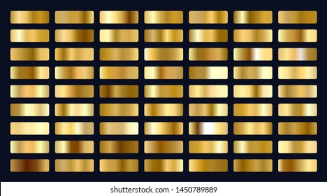 big set of metallic gold gradients
