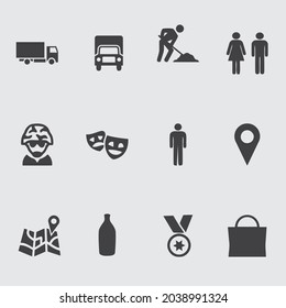 Big Set of Miscellaneous Lifestyle Line Icons. Editable Stroke. Finger Touch, Smartphone, Trade, Courier, Bicycle, Seagull, Happy Face.  Miscellaneous icon design - Shutterstock ID 2038991324