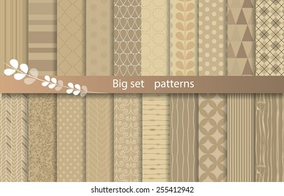 big set patterns, kraft paper style,  pattern swatches included for illustrator user,