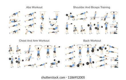 Set of Exercises Images, Stock Photos & Vectors | Shutterstock