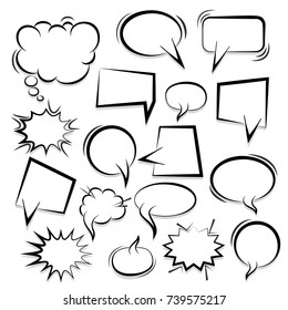 big set hand drawn monochrome blank stock vector royalty free